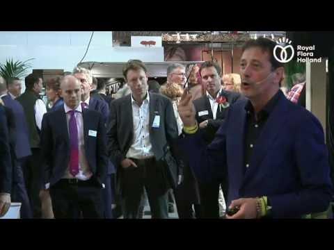 Presentatie Rik Vera op de Royal FloraHolland Trade Fair Aalsmeer