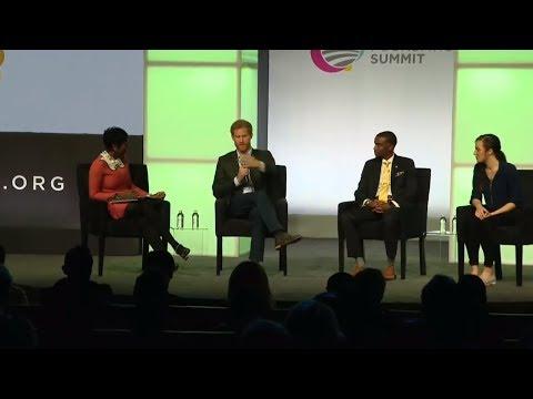 Prince Harry speaks at Obama Foundation summit