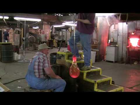 Blenko Glass Blowing 6-4-09 (in HD)