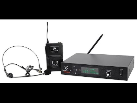 rockville rwm60u pro uhf headset guitar wireless microphone system review youtube. Black Bedroom Furniture Sets. Home Design Ideas