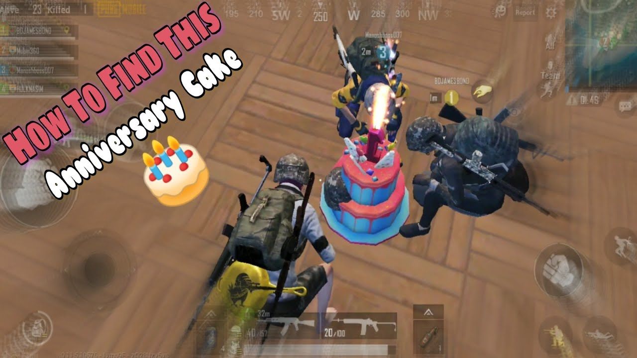 Where To Find Pubg Mobile Anniversary Cake 0 11 5 Update How To