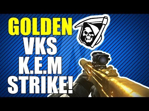 COD Ghosts: Golden VKS Sniper KEM Strike!