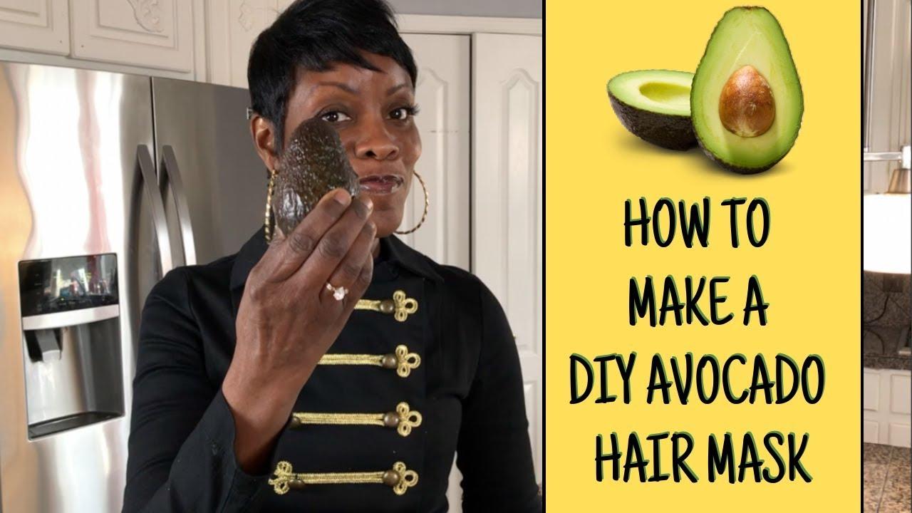 How To Make A Diy Avocado Hair Mask For Dry Damaged Hair Natural Hair