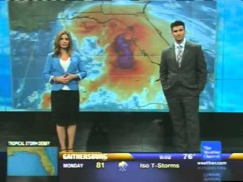 The Weather Channel - Tropical Storm Debby coverage - June 24, 2012 9:00 am EDT
