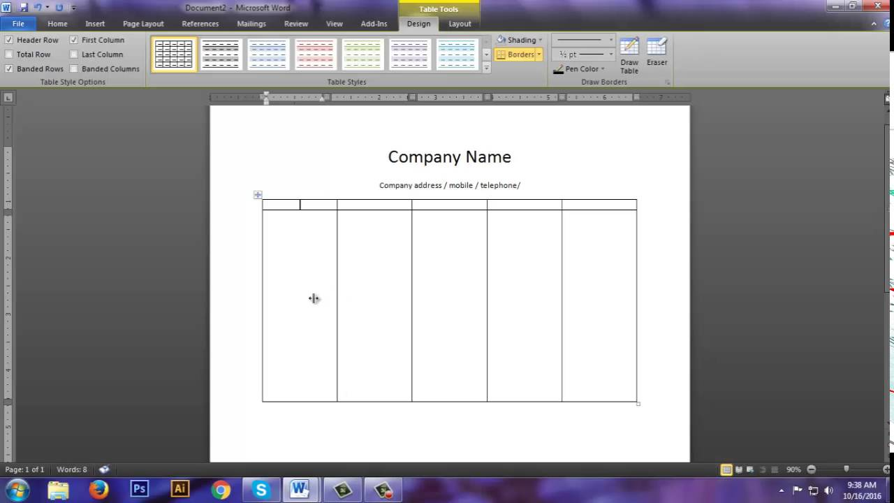 how to create a cash memo design in ms word how to create a cash memo design in ms word