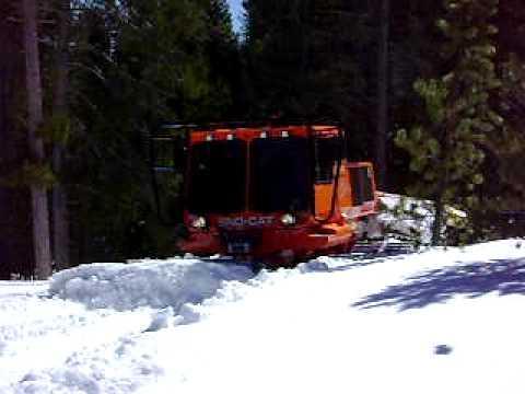 Tucker Sno-Cat - Pushing Snow