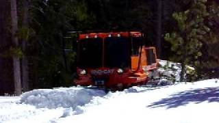 Tucker Sno-Cat - Pushing Snow