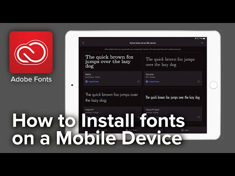 Adobe Fonts for Mobile Device
