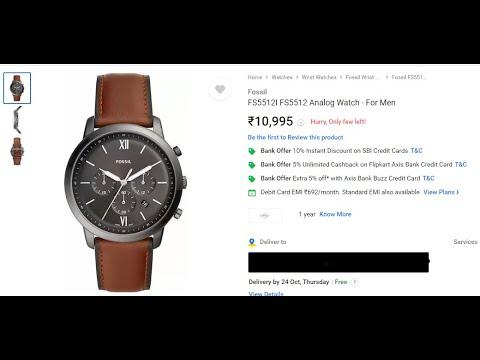 Fossil FS5408 NEUTRA CHR Analog Watch - For Men, FS5380 NEUTRA CHR Analog Watch, English, Hindi