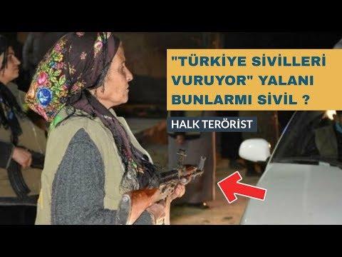 """PKK'NIN """"TÜRKİYE SİVİLLERİ VURUYOR"""" YALANI AFRİN SURİYE YPG"""