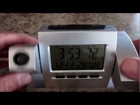 Projector Alarm Clock Review Youtube
