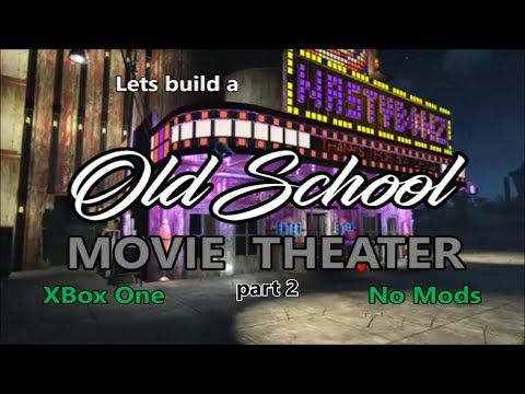 Fallout 4 Old School Movie Theater Settlement build part 2