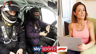 Ice racing with Kimi and jet skiing with Lewis! | At Home With Sky F1's Natalie Pinkham