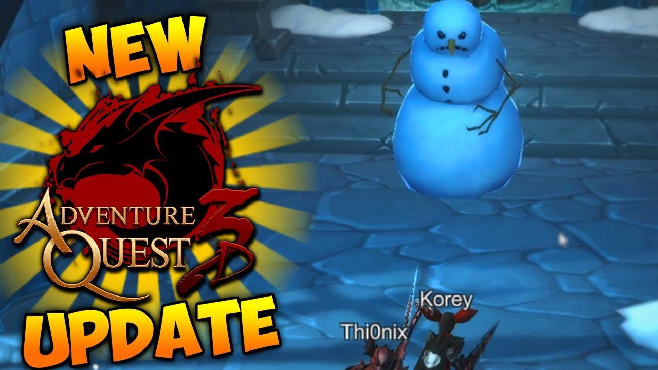 AQ3D New Update!!! Better Audio! Frost Castle Dungeon! New Swords! ~  AdventureQuest 3D