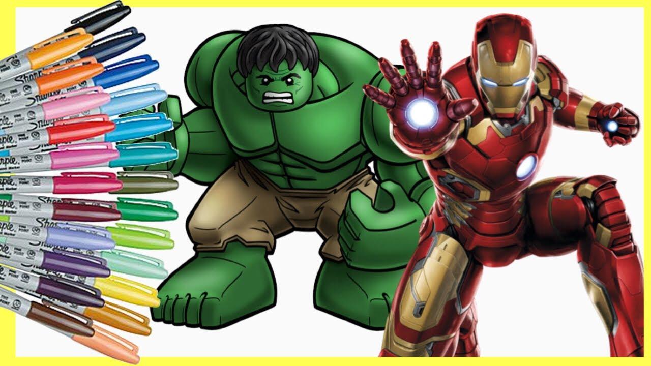 Mewarnai Gambar Iron Man Hulk Ninja