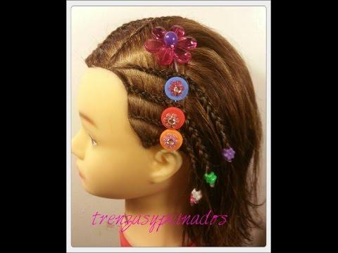 Trenzas para niñas de cabello corto , Braids for girls with short hair