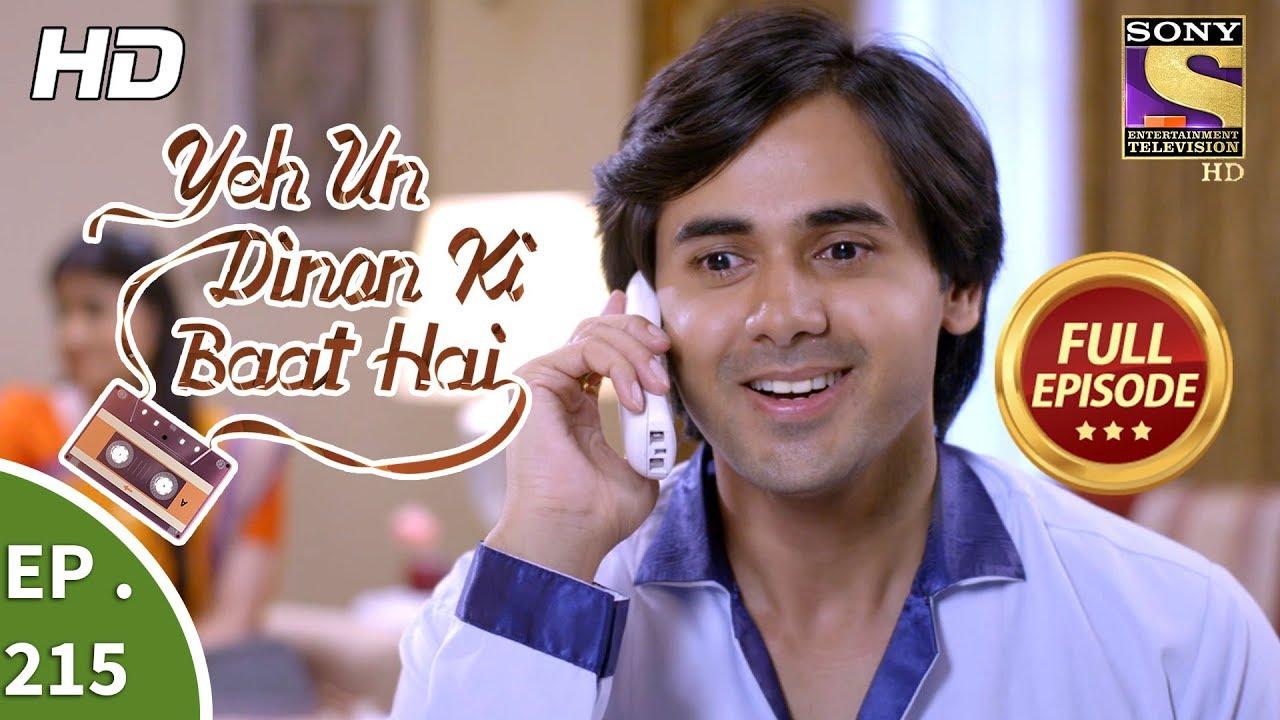 Yeh Un Dinon Ki Baat Hai - Ep 215 - Full Episode - 29th June