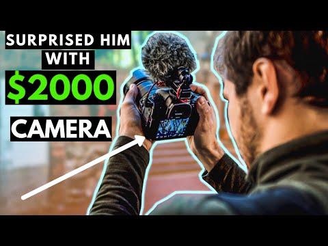 We Bought Him A $2000 CAMERA! | Drone Giveaway