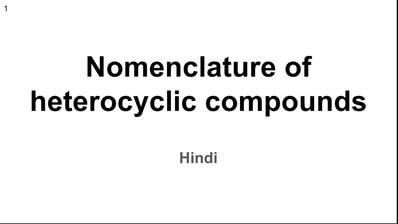 Heterocyclic Chemistry Pdf
