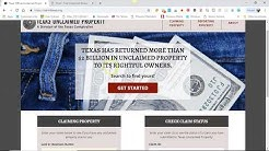 Unclaimed Property Texas - Free Texas Money Unclaimed $12,000 Plus Find!
