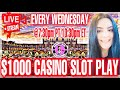 🔴$1000 LIVESTREAM at the Casino 🎰 Every Wednesday 6/16/21 @7:30pm PT/10:30pm ET Can We Win Big!!