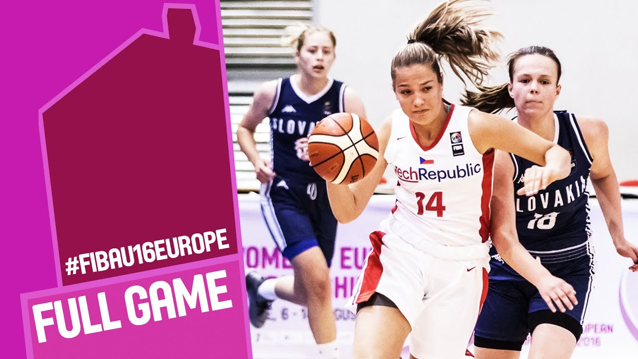 Czech Republic v Slovak Republic - Full Game - R 16 - FIBA U16 Women's European Championship 2016