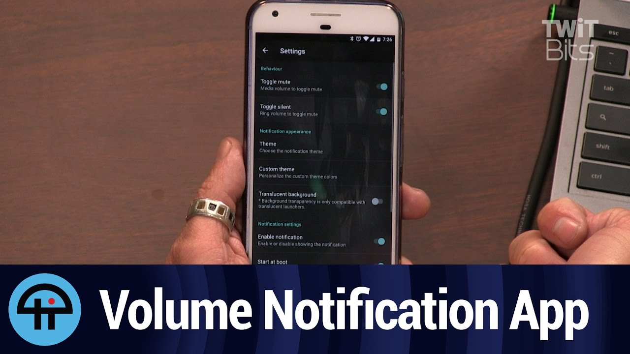 Volume Notification for Android