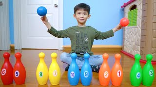 Learn Colors and Learn Numbers Bowling and Golf | Educational Video for Babies | Xavi ABCKids