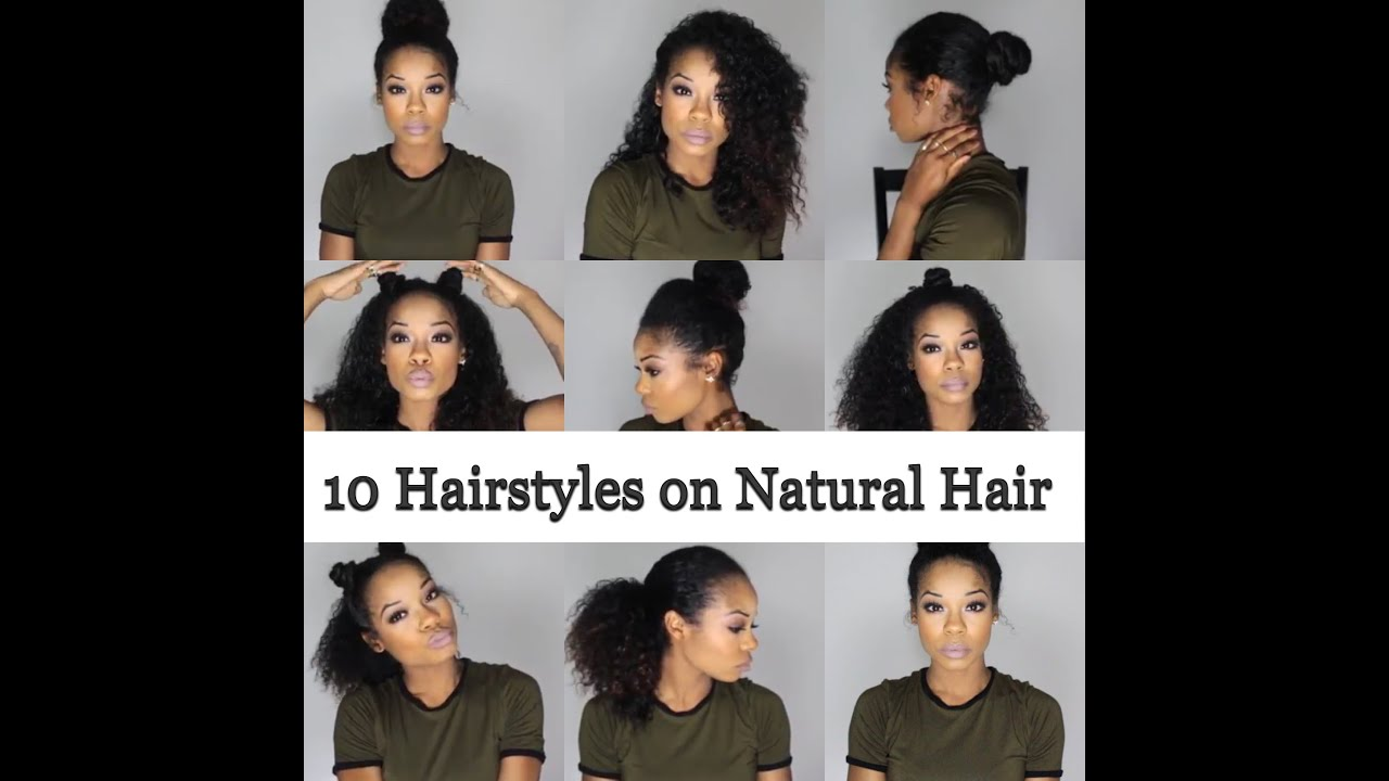 10 quick and easy hairstyles on natural hair - 3b/3c
