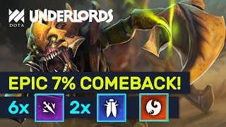 EPIC 7% COMEBACK?! Lord Rank Dragon Insect Assassins! | Dota Underlords