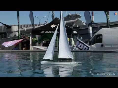 RC sail boat.wmv Радиоуправляемая парусная яхта