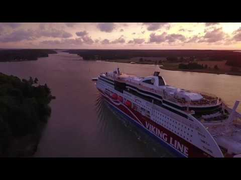 Viking Grace Leaving Port of Turku