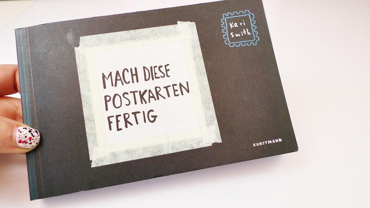 buchvorstellung mach diese postkarten fertig von keri smith postkarten buch zum selber. Black Bedroom Furniture Sets. Home Design Ideas