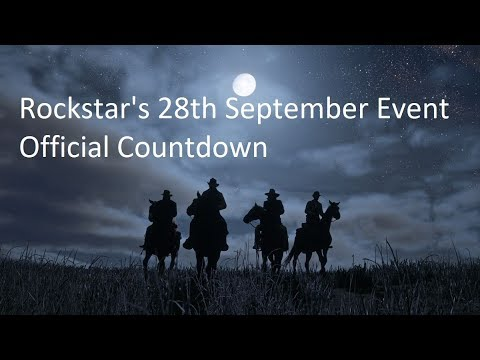 Red Dead Redemption 2 - Rockstar's 28th September Event - Official Countdown