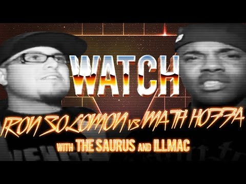 WATCH: IRON SOLOMON vs MATH HOFFA with THE SAURUS and ILLMAC