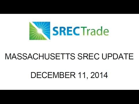 SRECTrade Massachusetts Update: December 11, 2014