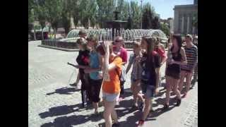 Русская пробежка Донецк 9 мая 2013 юбилей 2 года! :)