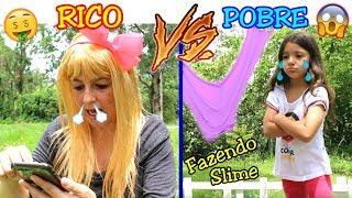 RICO VS POBRE FAZENDO AMOEBA / SLIME ( Parte 2 ) - Anny e Eu