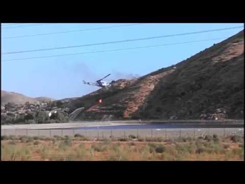 Jurupa Hill Fire August 30 2017 Helicopter Water Drop Fontana Inland Empire Southern California