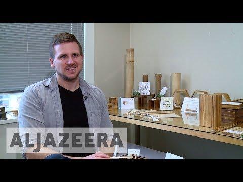 Al Jazeera English: Vancouver PhD student gives used chopsticks new life as furniture