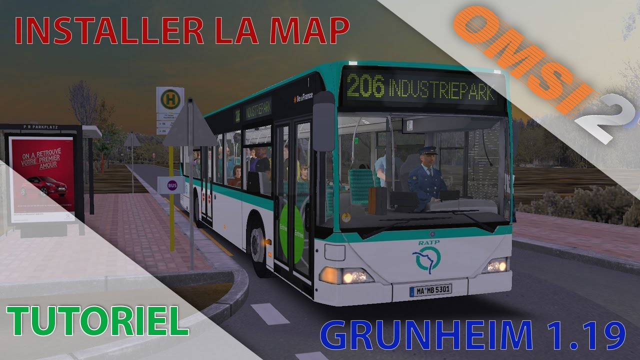[Tutoriel] OMSI 2 | Installer la map Grunheim 1.19 on