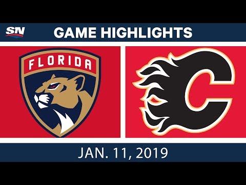 NHL Highlights | Panthers vs. Flames - Jan. 11, 2019