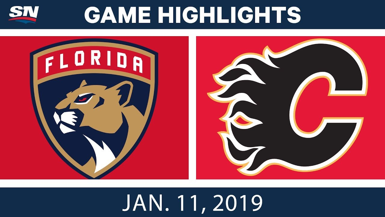 NHL Highlights | Panthers vs. Flames - Jan. 11, 2019