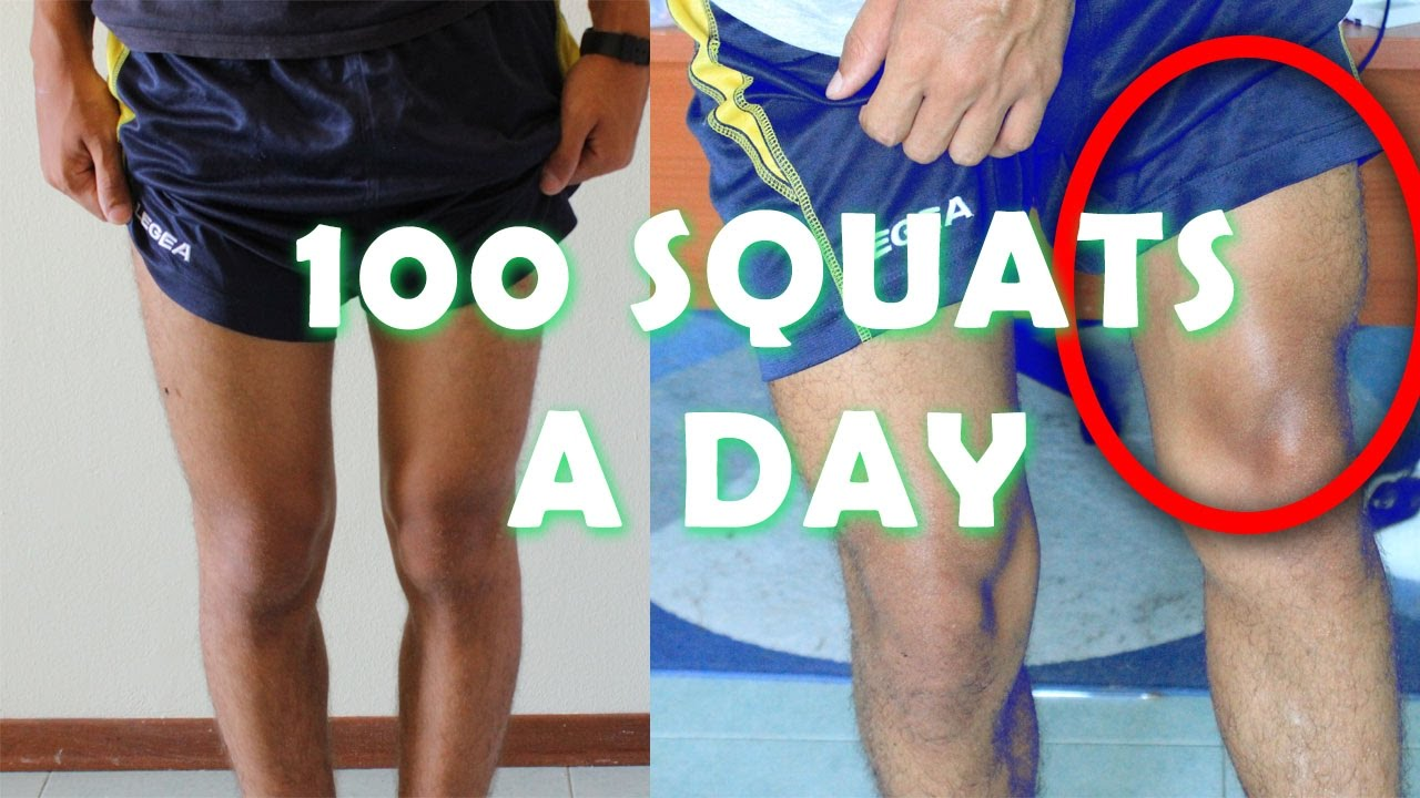 100 Squat For 30 Days Challenge My Body Trasformation