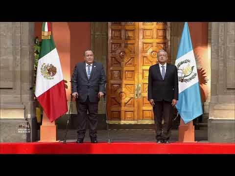 Ceremonia de bienvenida al presidente de la República de Guatemala