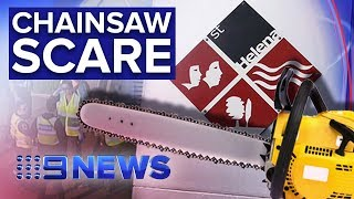 Gambar cover Melbourne school sent into lockdown as man with chainsaw arrested nearby | Nine News Australia