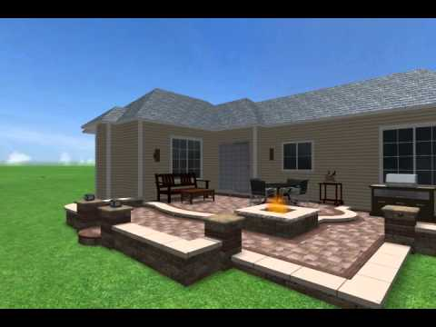 Charmant Multi Level Patio Design By Brick Logik, LLC 855 3D BRICK