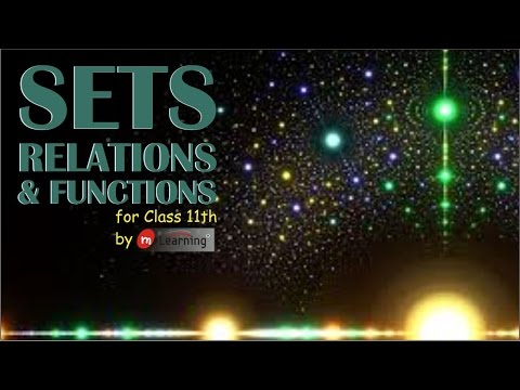 Sets Relations & Functions: Basic Definitions - Class 11th &
