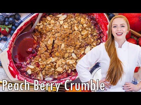 Berry Peach Crumble