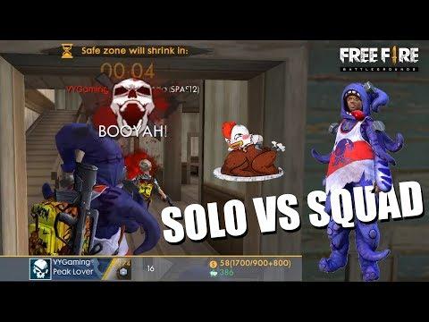 BOOYAH! 16 KILLS SOLO VS SQUAD MAKE COSTUME MR. SQUIDO - FREE FIRE INDONESIA